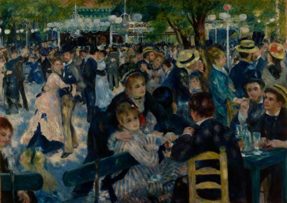 Renoir, Pierre Auguste: Dance at Le Moulin de la Galette. Fine Art Print/Poster. Sizes: A4/A3/A2/A1 (004110)